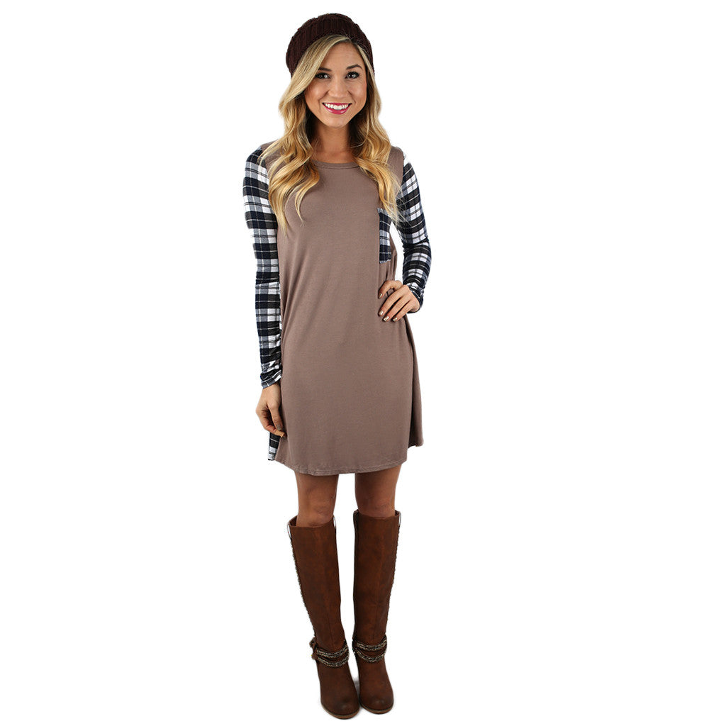 Universally Flattering Dress in Mocha