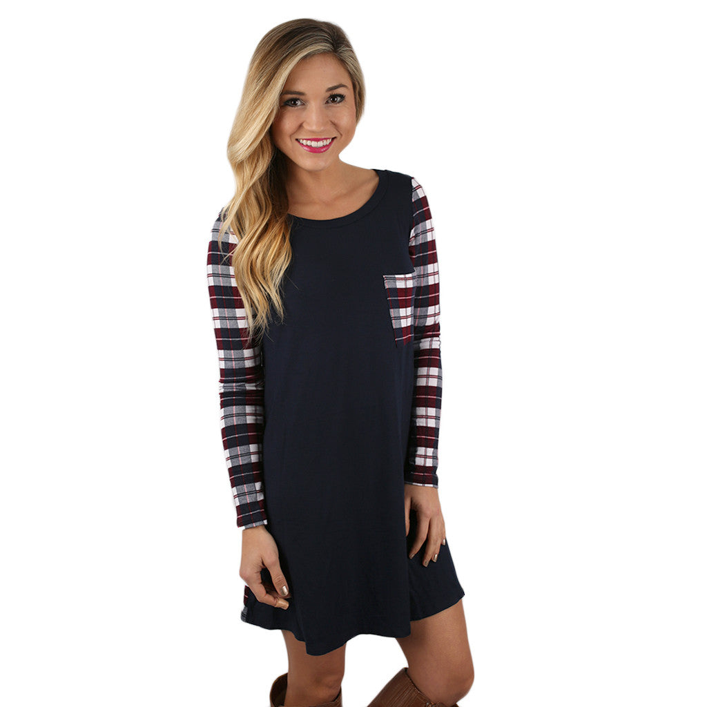 Universally Flattering Dress in Navy