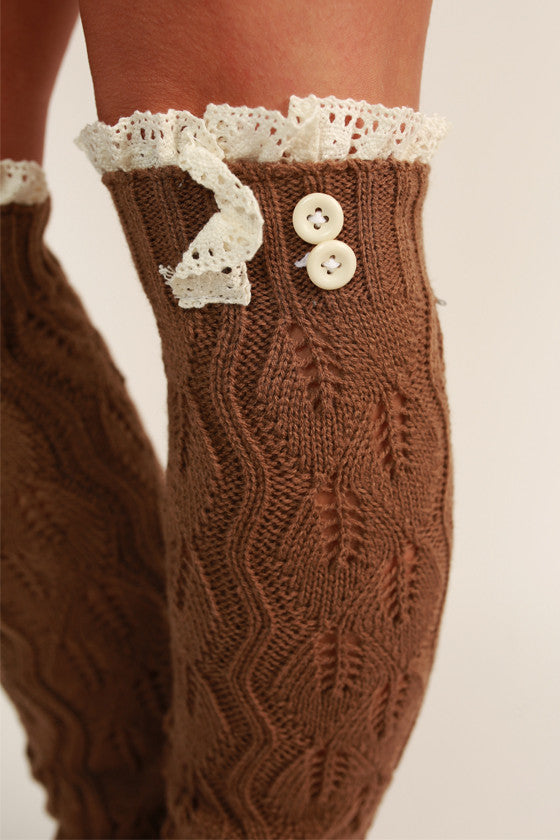 Lovely Layers Leg Warmer in Mocha