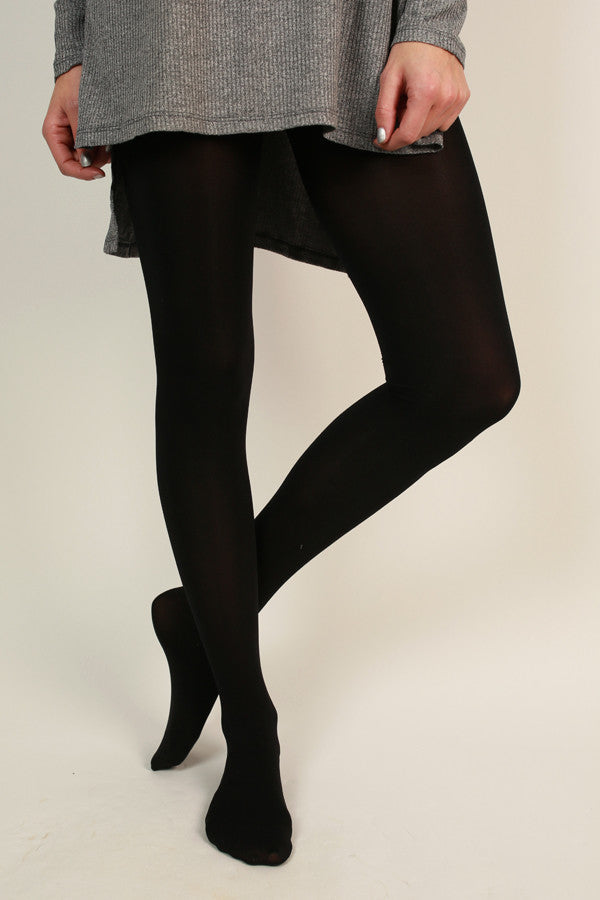 Super Opaque Tights in Black