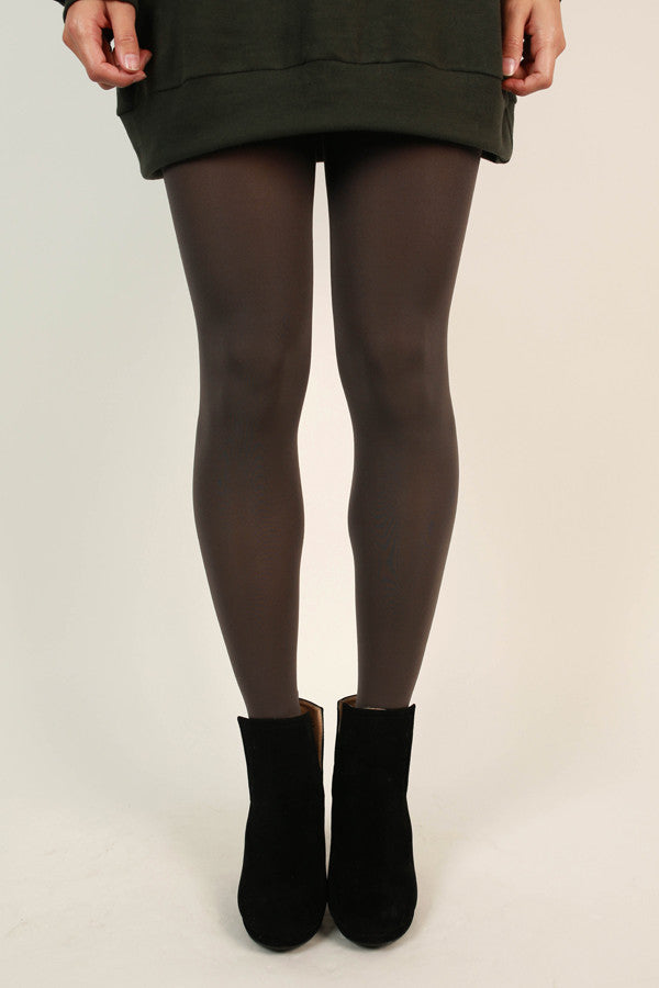 Super Opaque Tights in Charcoal