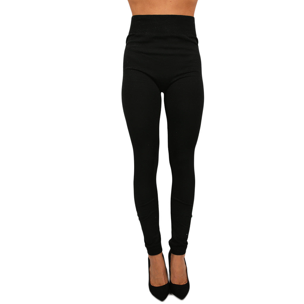 Fleece Legging in Black