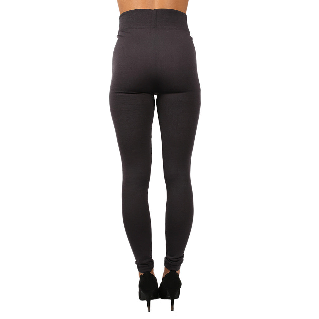 Fleece Legging in Charcoal