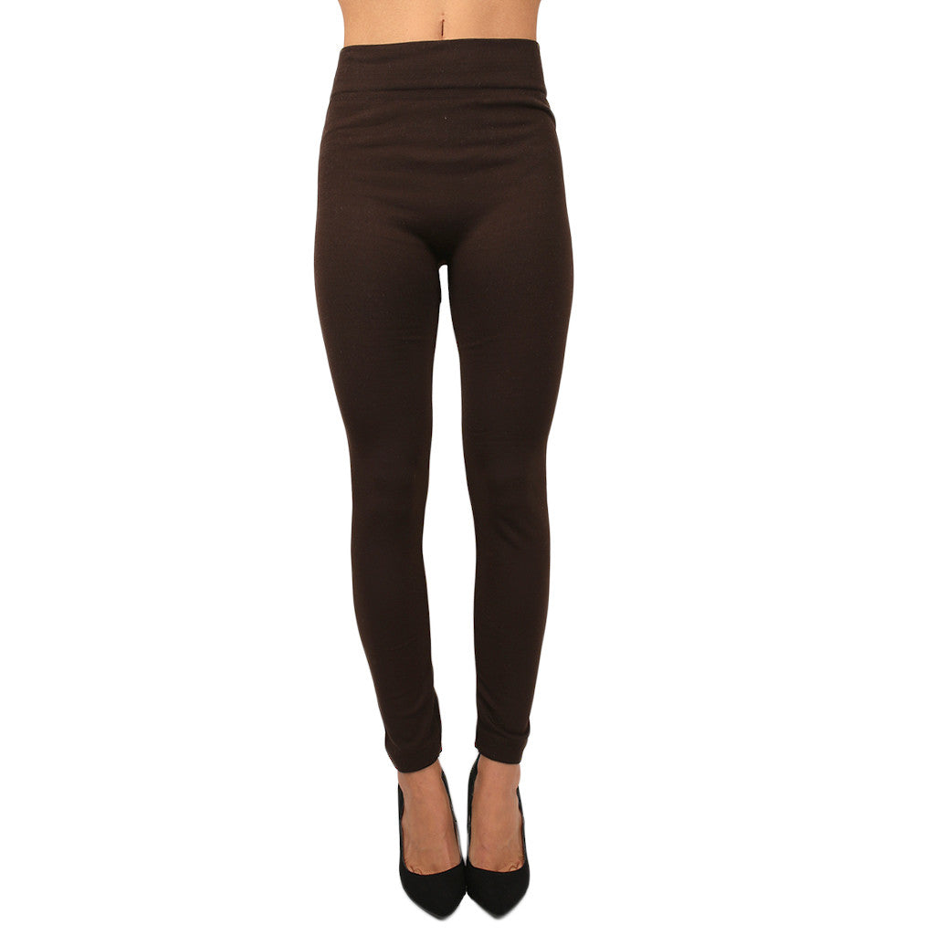 Fleece Legging in Chocolate