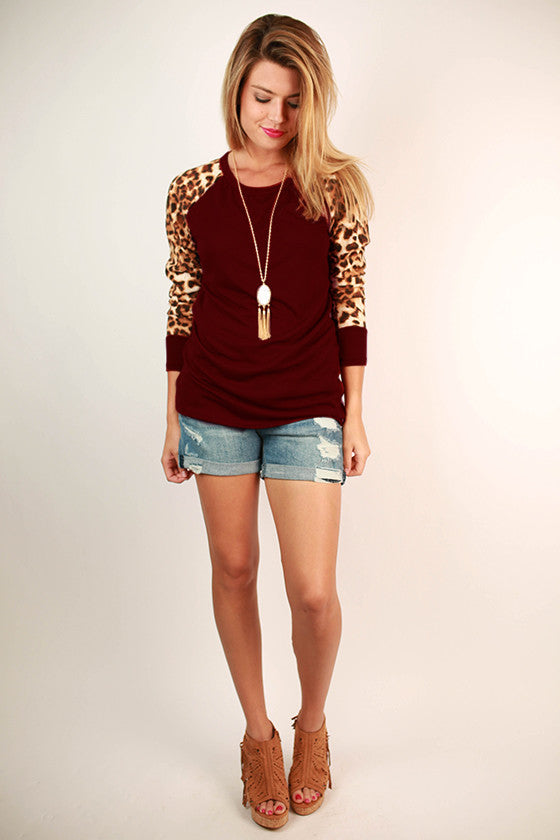 City Lights Tee Burgundy