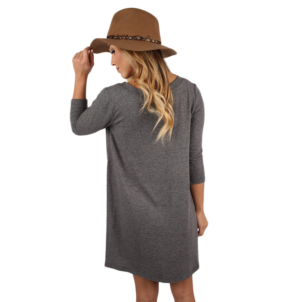 Express Yourself Tunic Heather Grey
