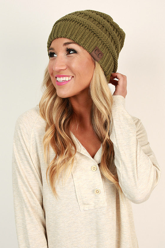 Beanie Beautiful in Olive