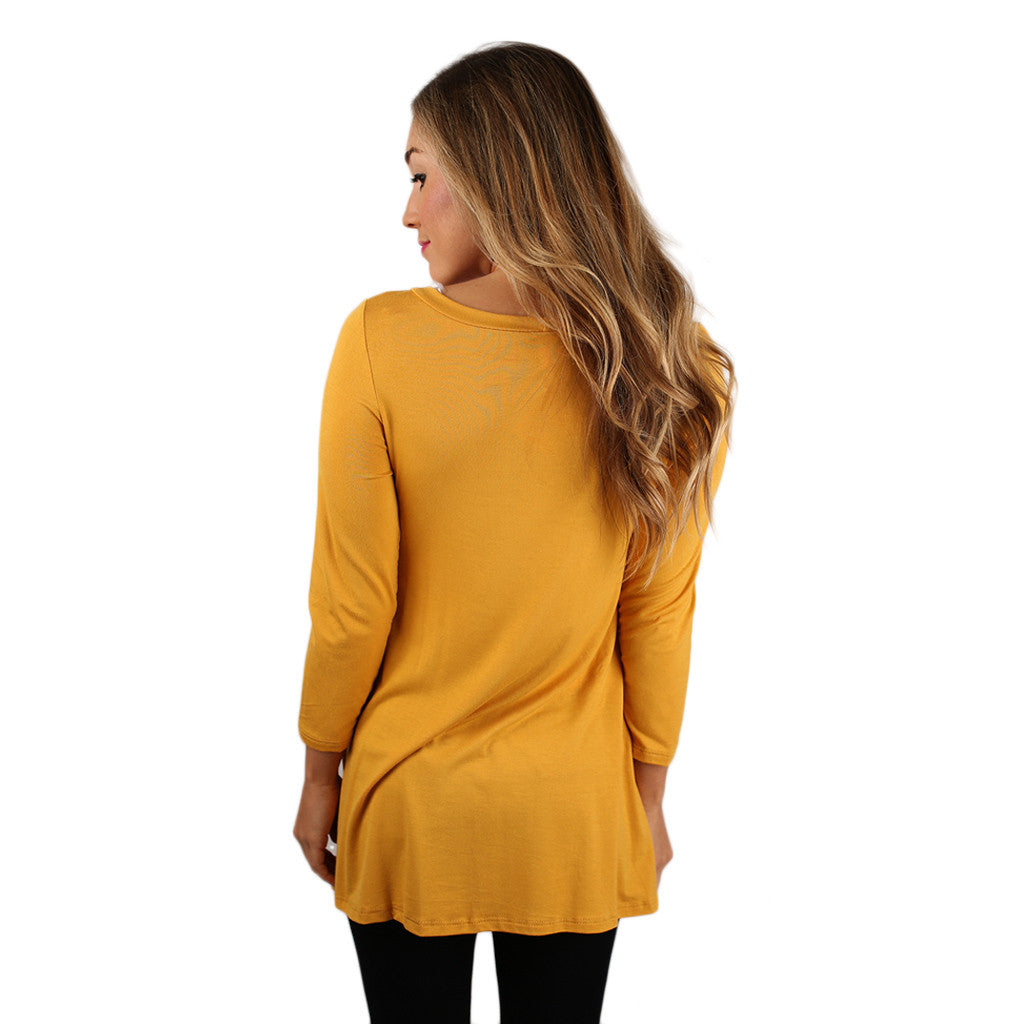 The Lucky Girl Tee Mustard