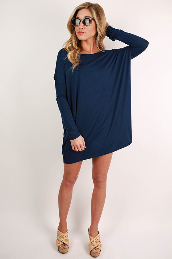 At First Crush Tunic in Navy