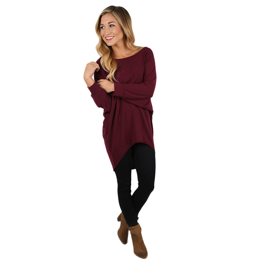 Afternoon Outing Tunic in Maroon