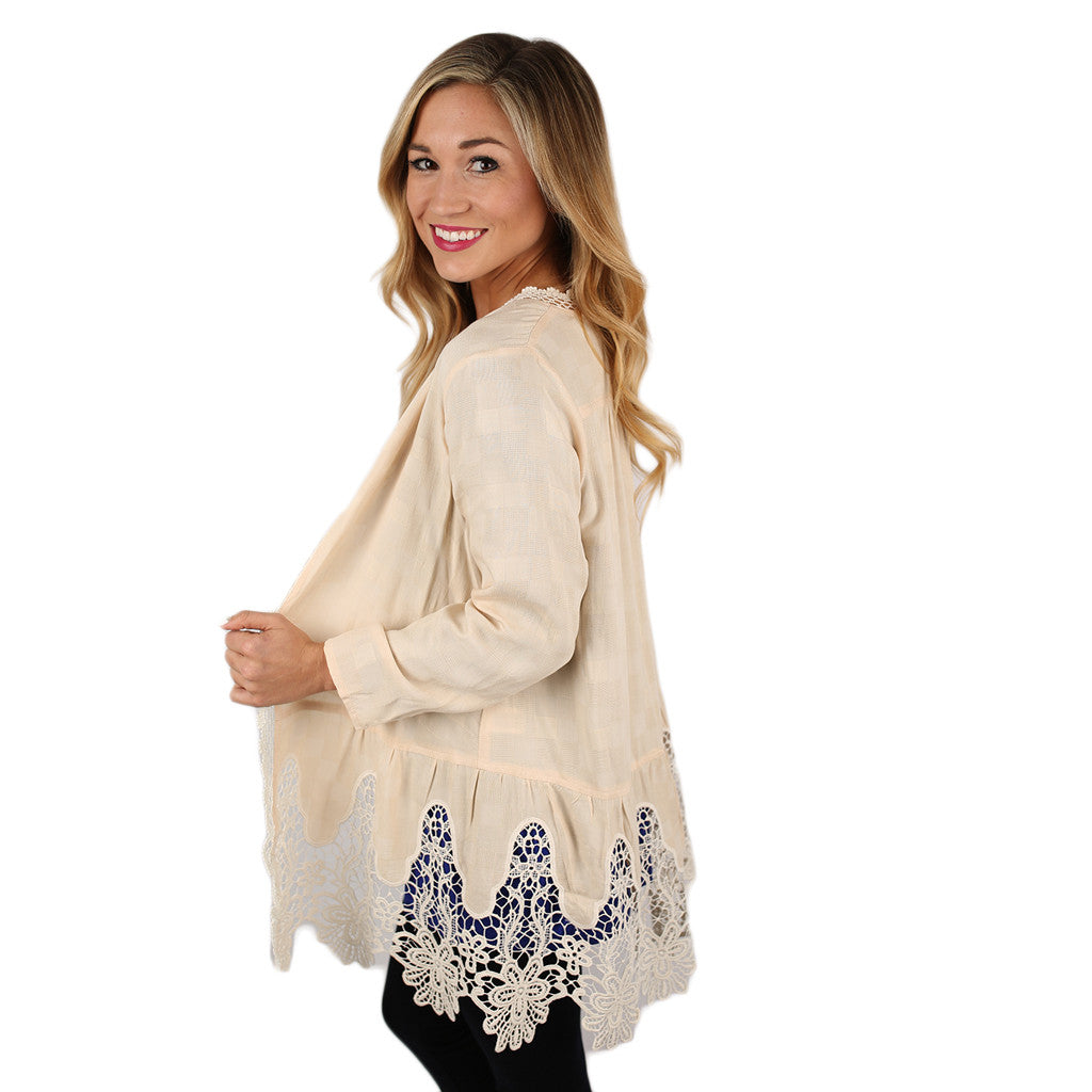 Feeling Romantic Cardigan in Cream
