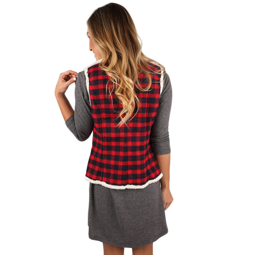 Plaid Ambition Vest