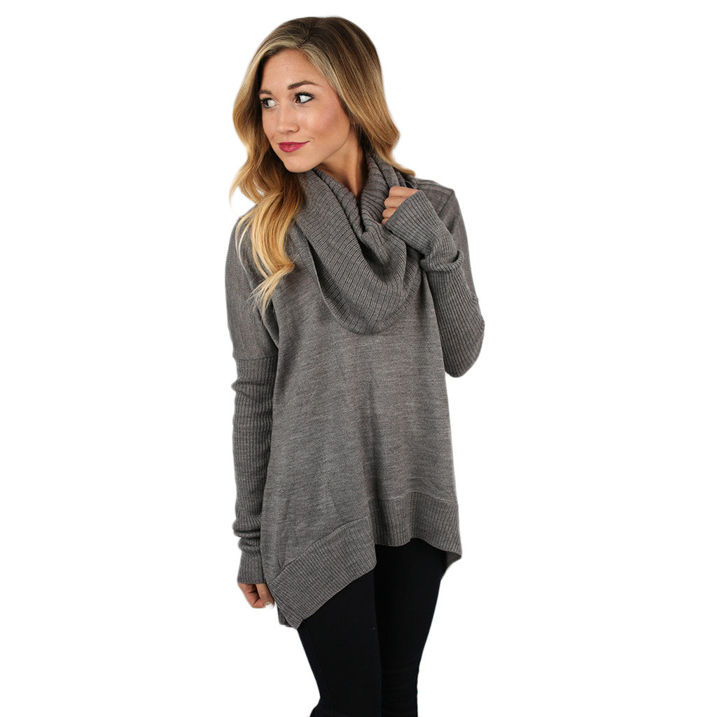 Home is Where I'm with You Tunic Sweater in Grey