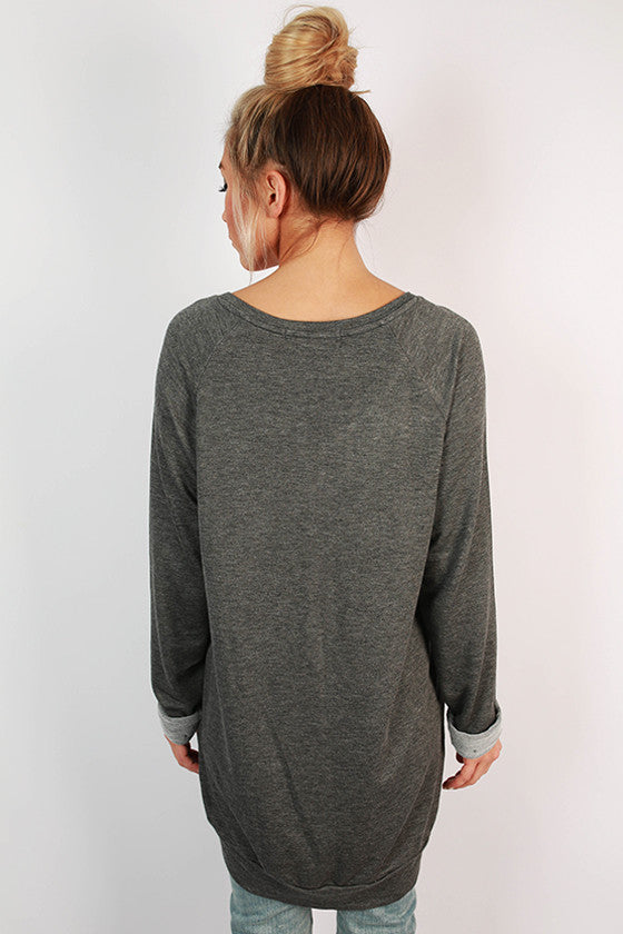 Miss Wonderful Top in Charcoal