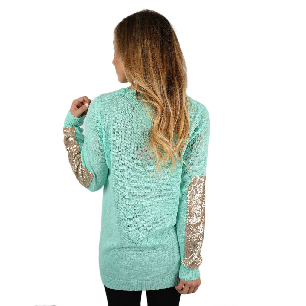 Keep Sparkling, Darling Sweater Mint