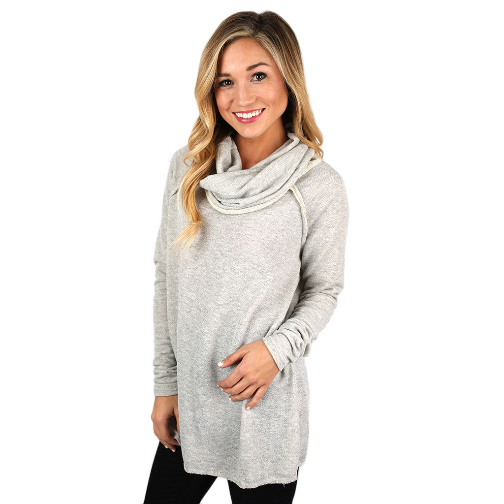 Sight Seeing French Terry Tunic in Grey