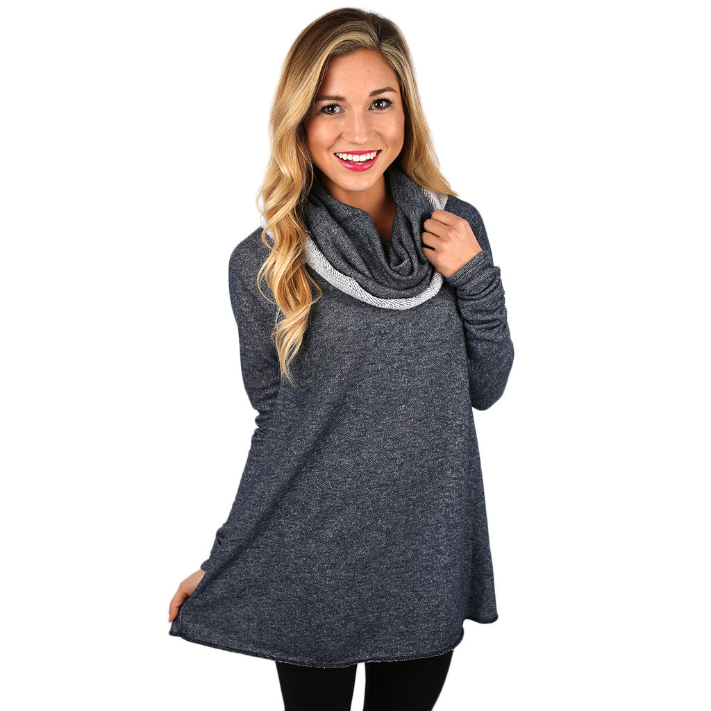 Sight Seeing French Terry Tunic in Navy