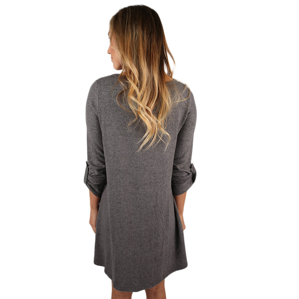 Dinner & a Movie Tunic Grey
