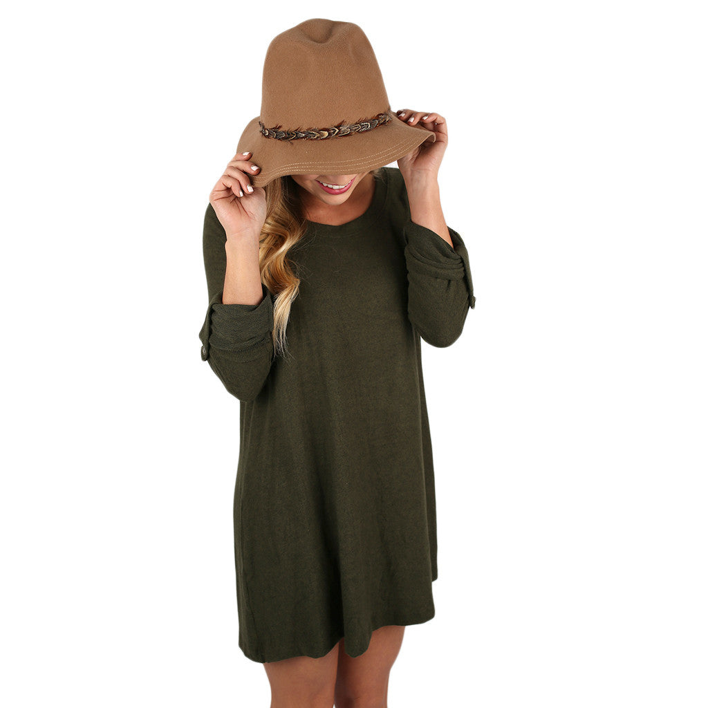 Dinner & a Movie Tunic Olive