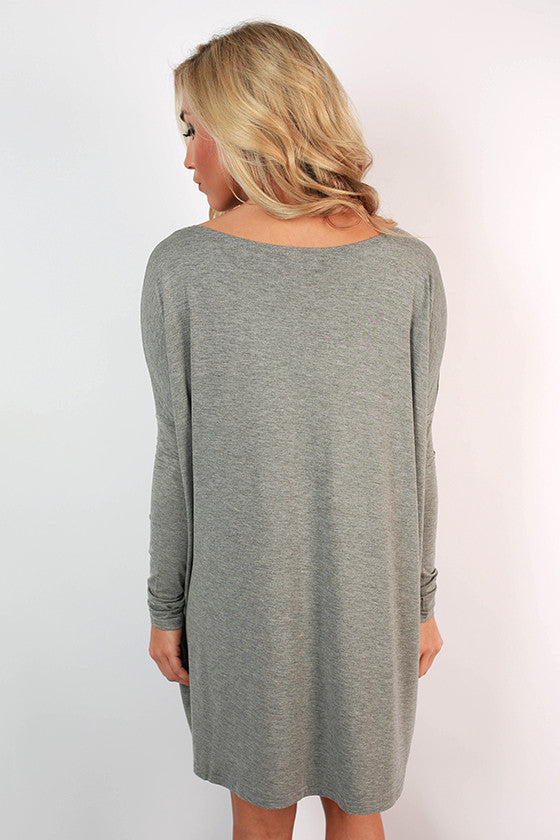 PIKO Tunic in Dark Heather Grey