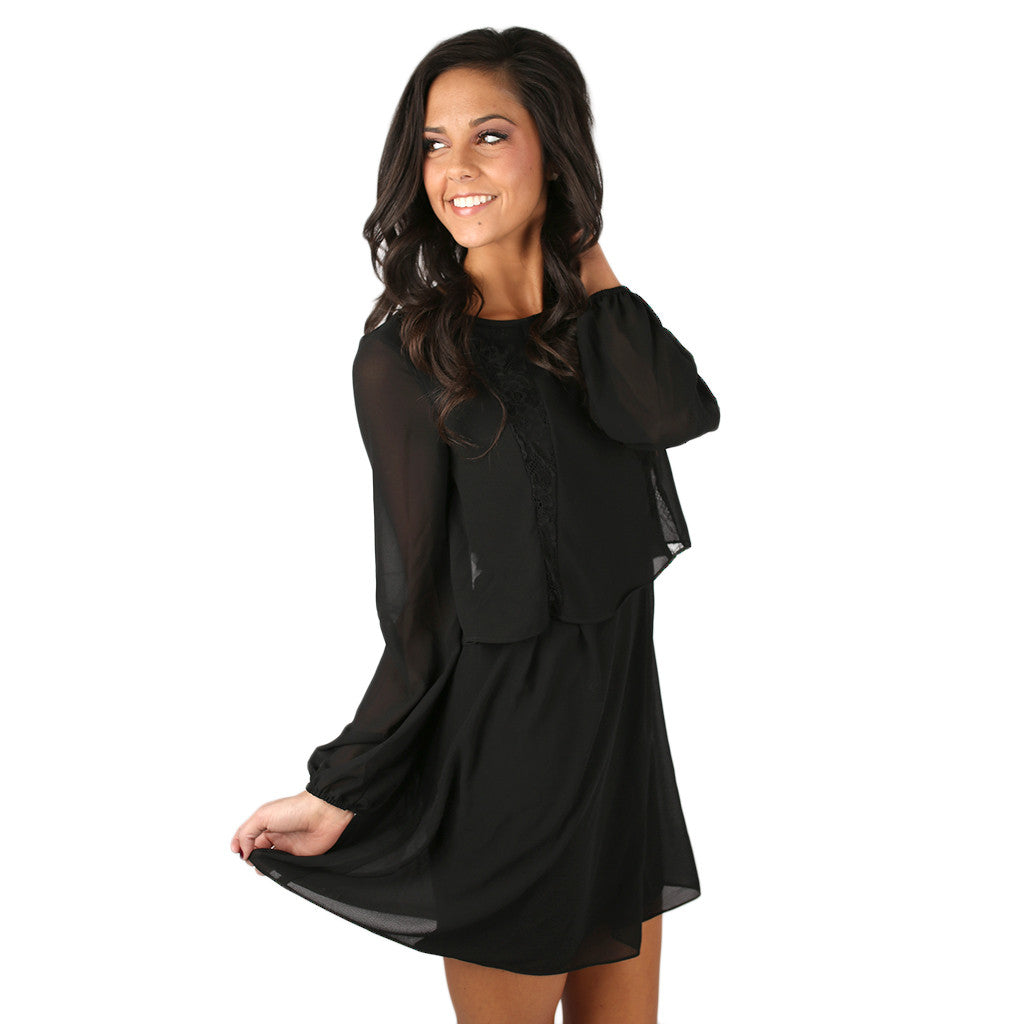 Night at the Symphony Dress in Black