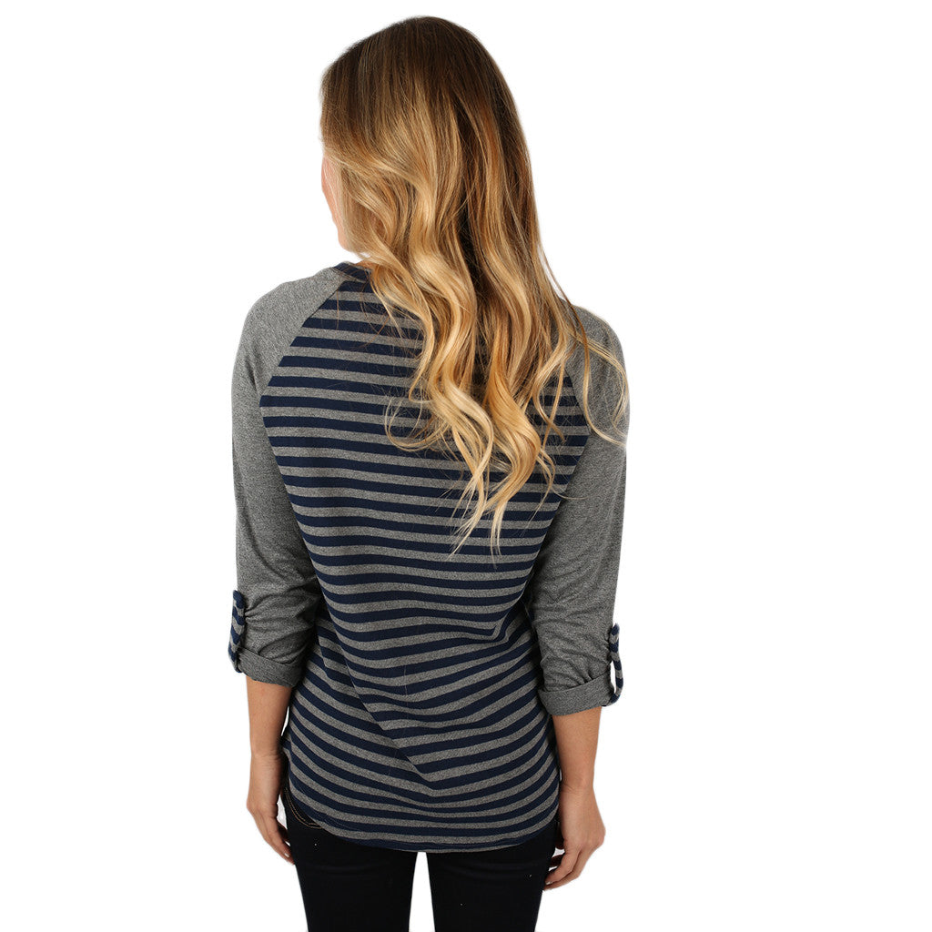 Serenity in Stripes Top in Navy