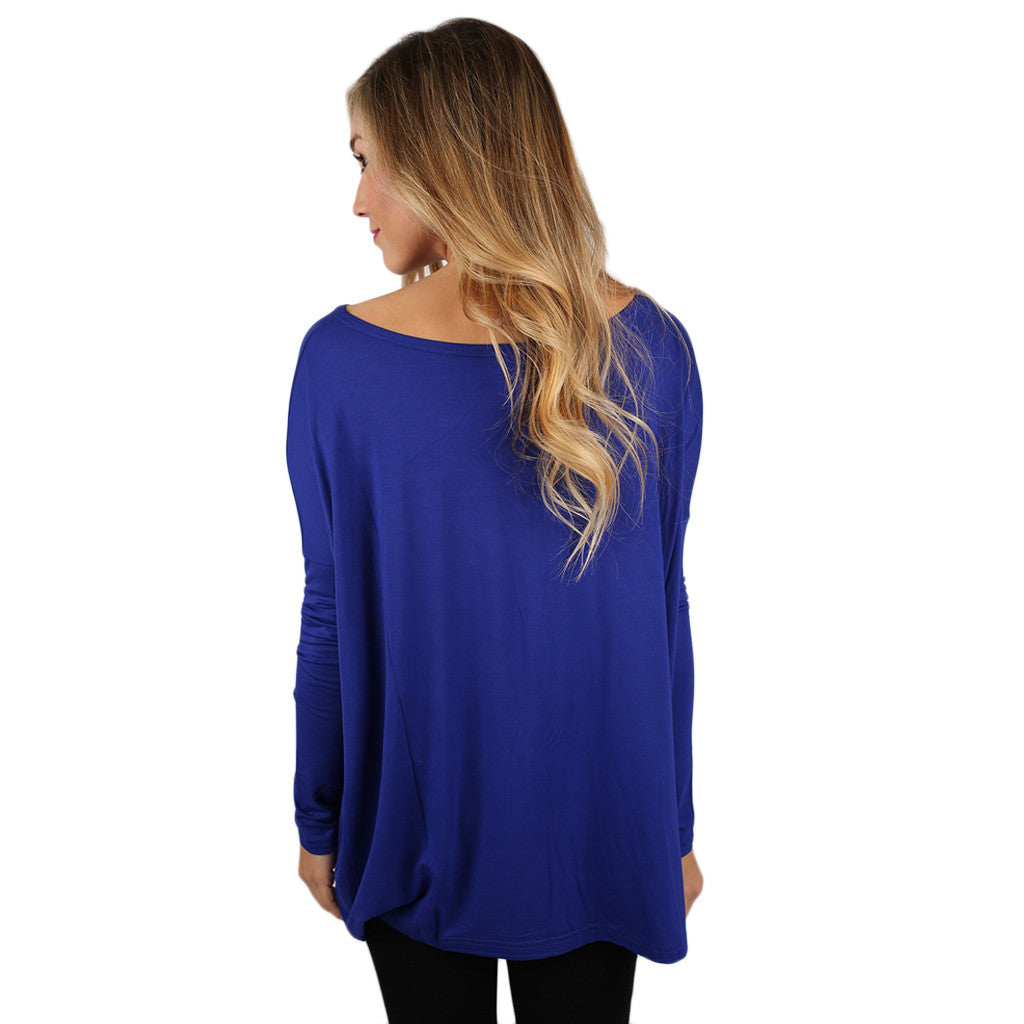 PIKO Long Sleeve Tee in Bright Violet