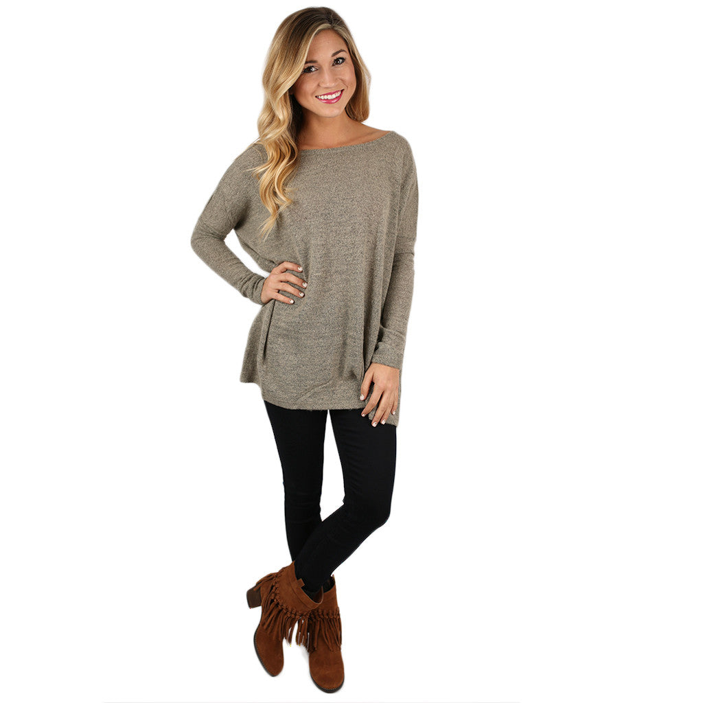 PIKO Sweater in Khaki