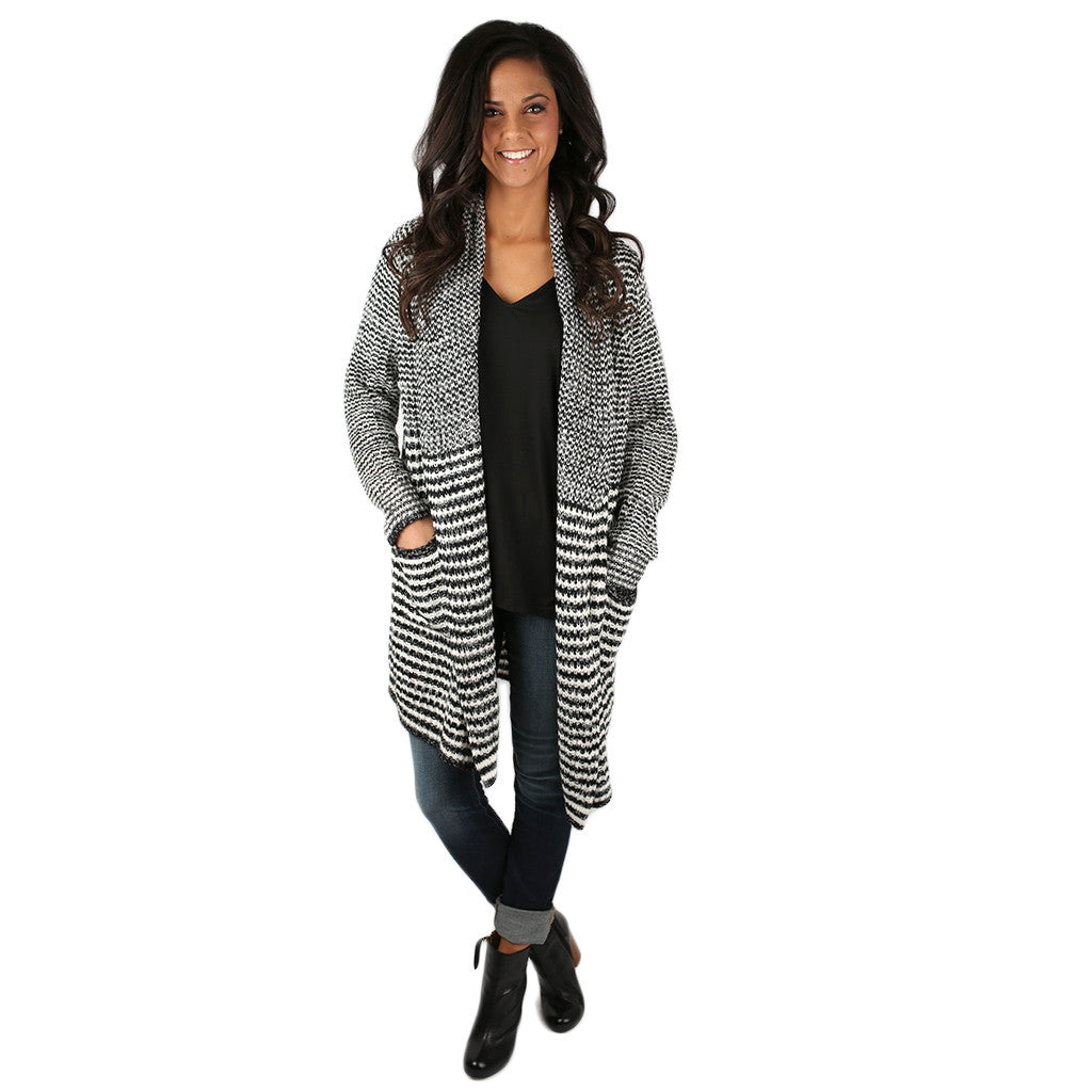 Stripe & Tell Cardigan