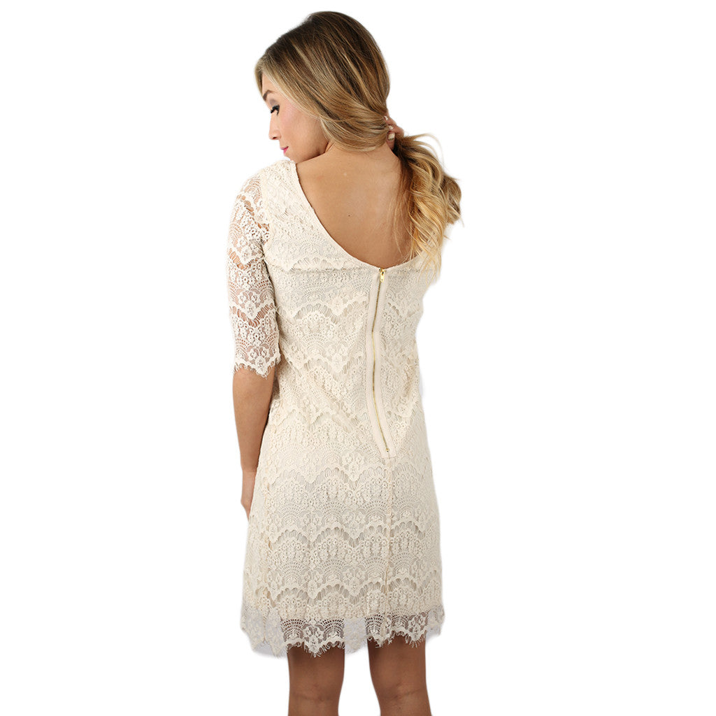 Lace is More Dress in Ivory