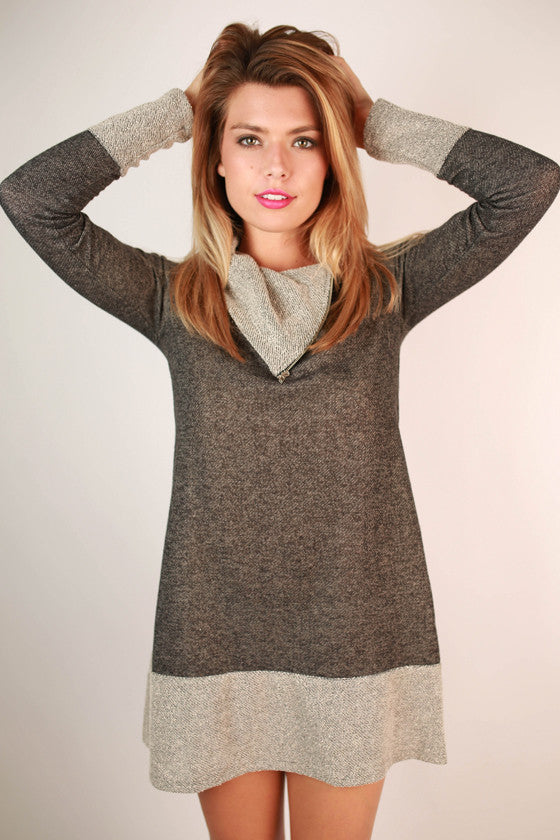 Fashionable Cuddles Tunic in Black