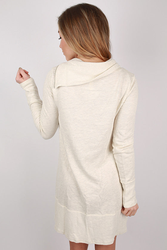 Fashionable Cuddles Tunic in Cream