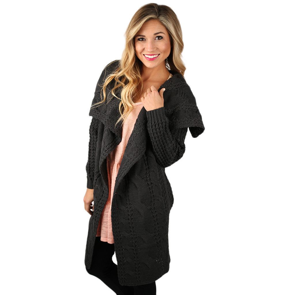 Life in the Natural State Cardi Charcoal