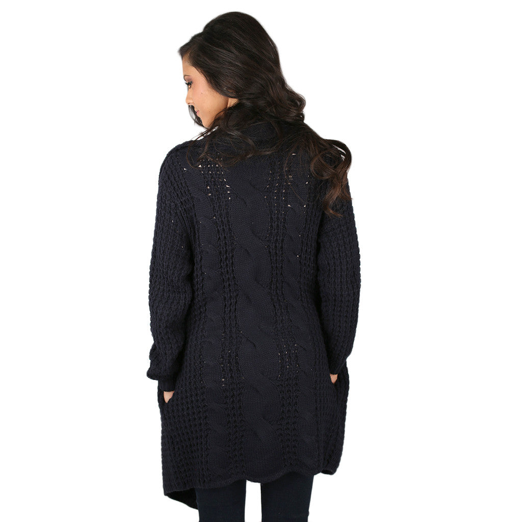 Life in the Natural State Cardi Navy
