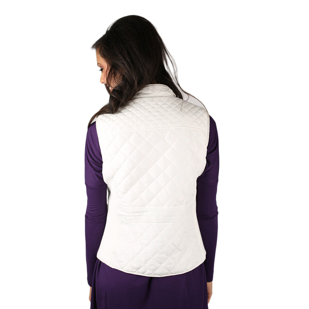 Call Me Beautiful Quilted Vest White