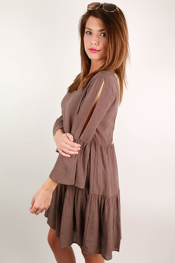 The Road to You Dress Mocha