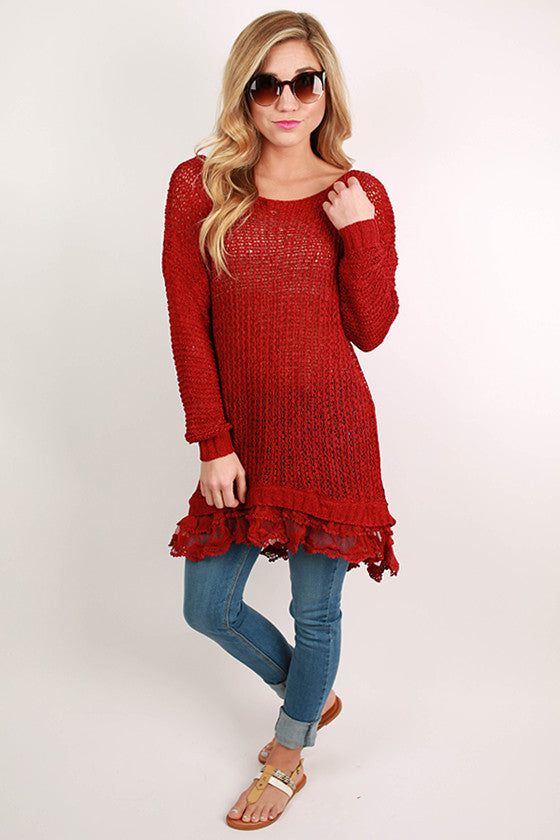 Divine Memories Sweater in Burgundy