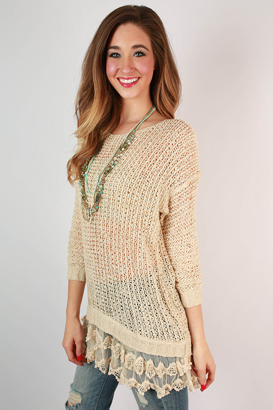 Divine Memories Sweater in Beige