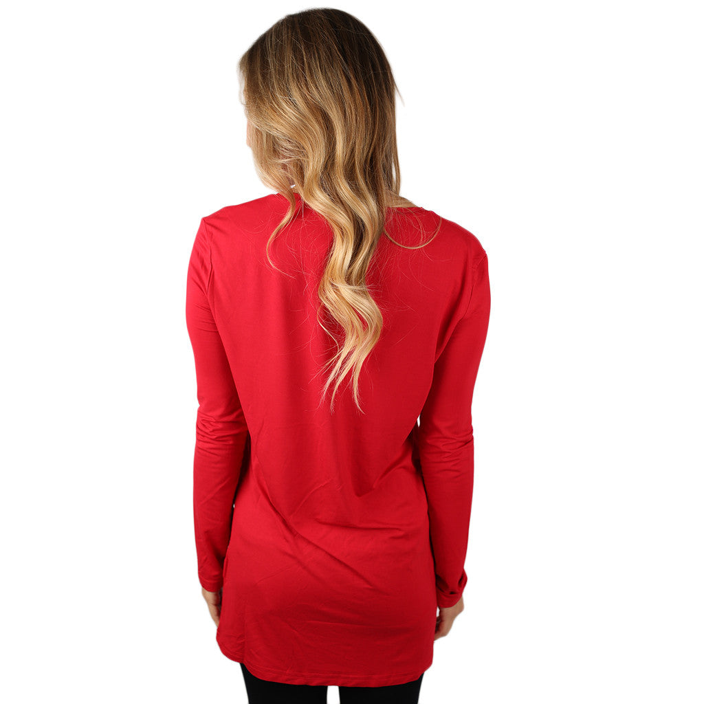 PIKO Long Sleeve V-Tee in American Red
