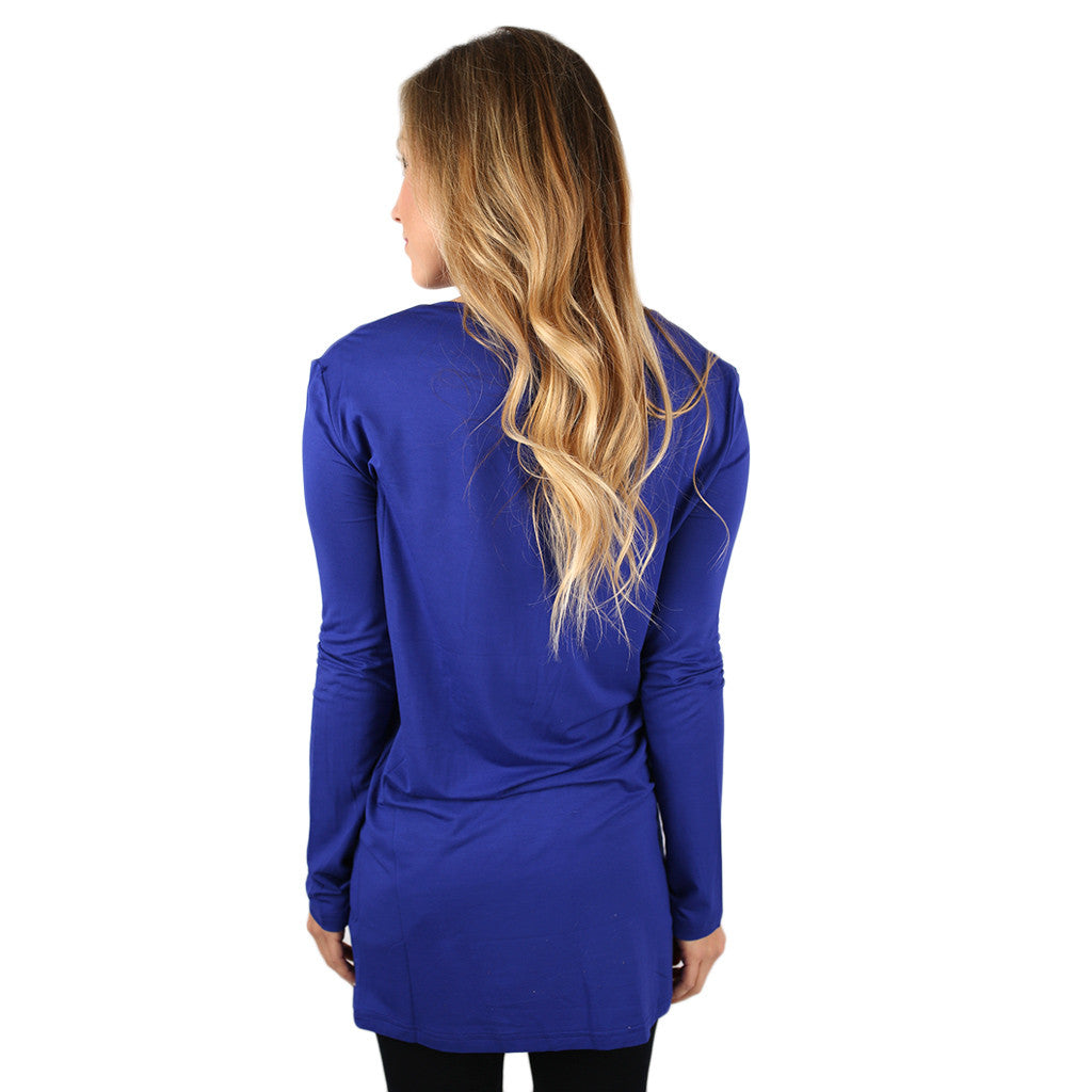 PIKO Long Sleeve V-Tee in Bright Violet