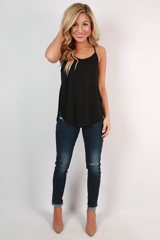 The Perfect Knit Tank in Black