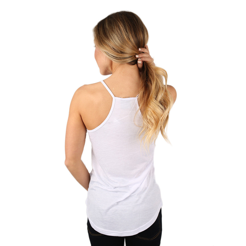 Basic Racerback Cami in White