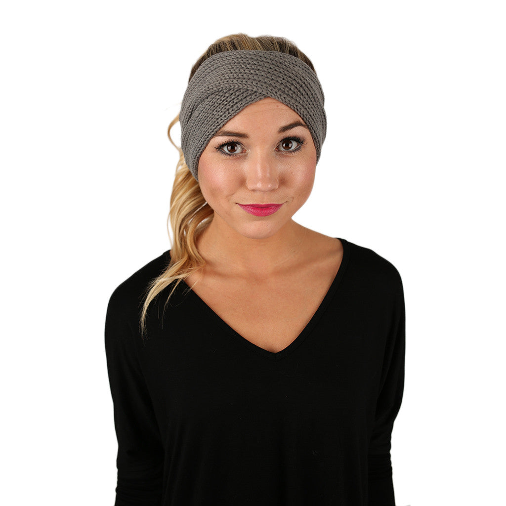 Cozy Chic Headband in Grey