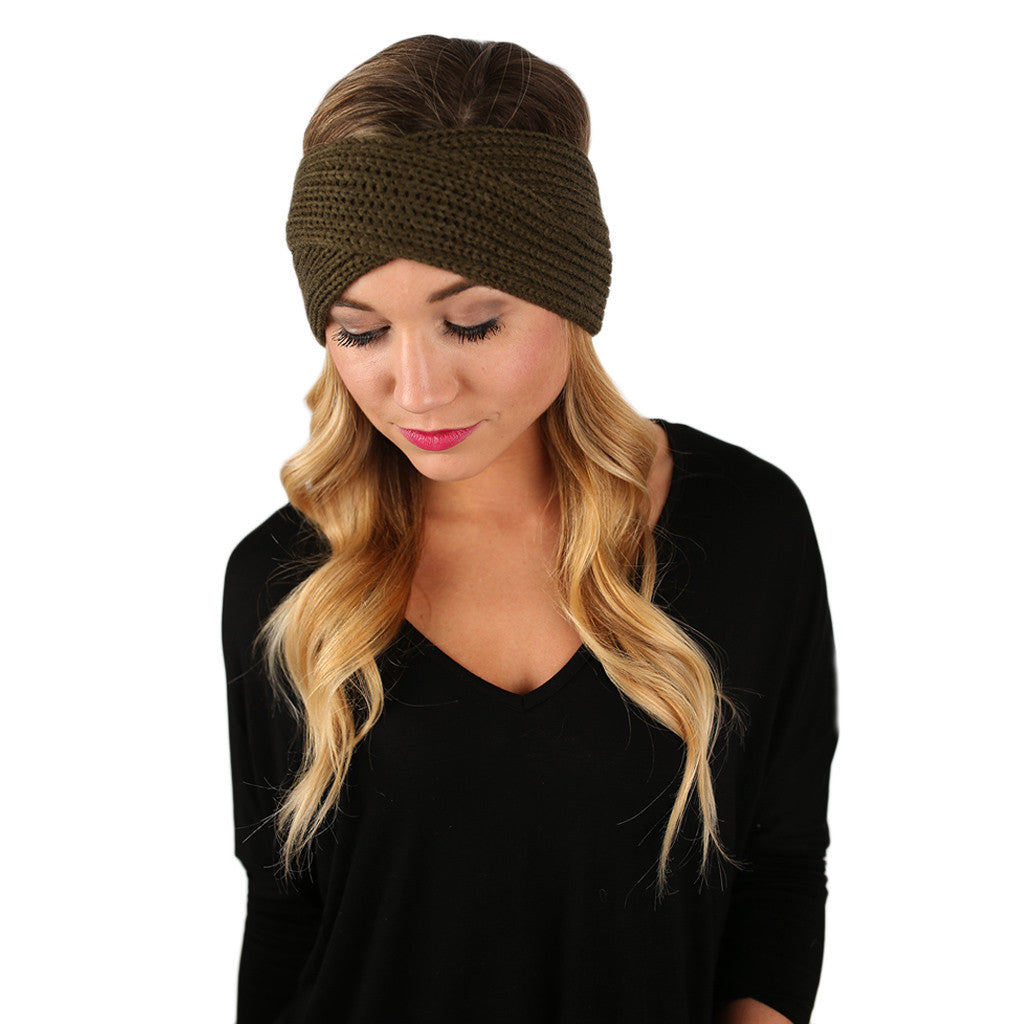 Cozy Chic Headband in Olive