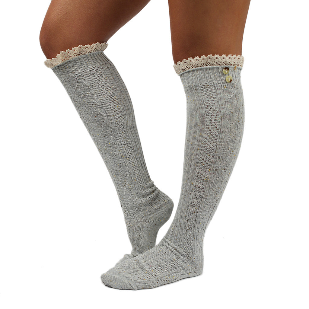 Cozy For Days Sweater Sock in Grey