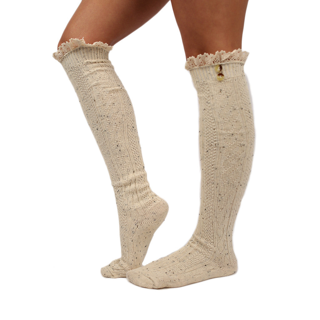 Cozy For Days Sweater Sock in Ivory