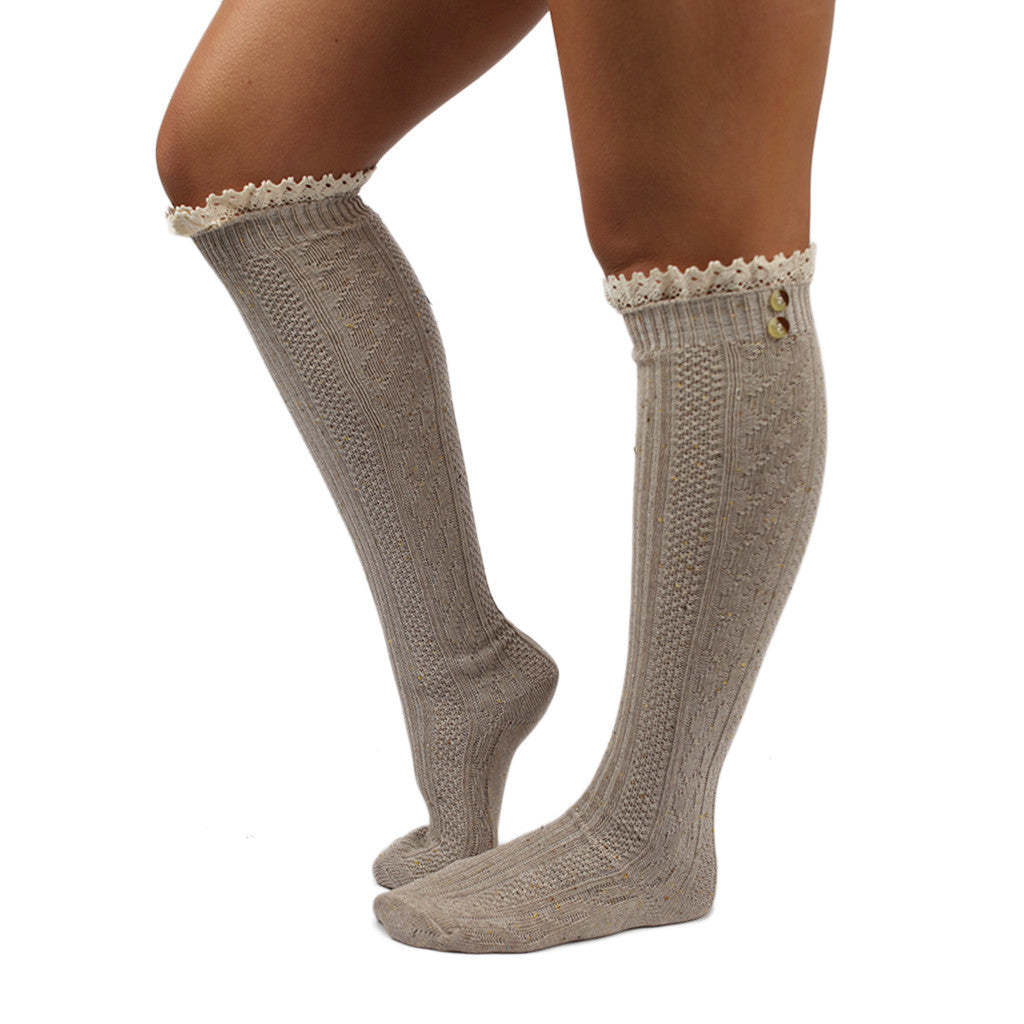 Cozy For Days Sweater Sock in Mocha