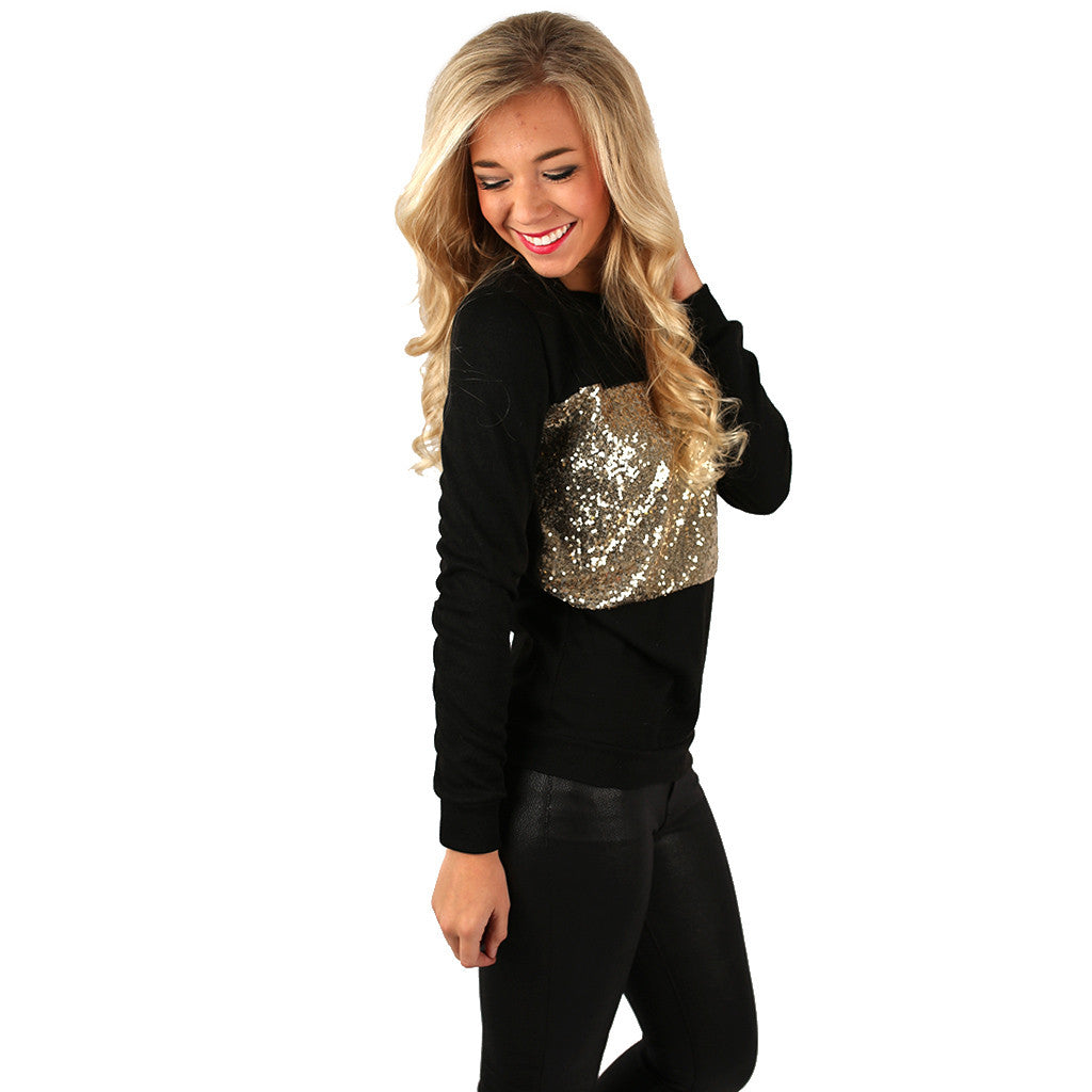 Royalty Glam Top in Black
