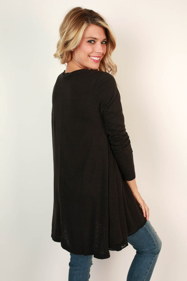 Full Circle Tunic Sweater in Black