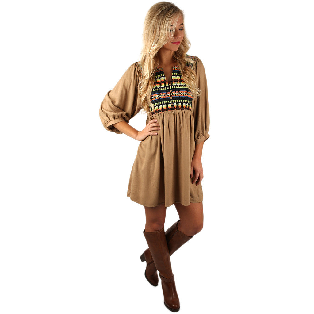 I'll Be Your Babydoll Dress in Khaki